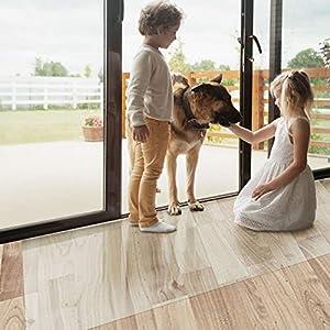 Bürostuhlunterlage Bodenschutzmatte   Bodenmatte Stuhlunterlage   Transparent   Stärke: 1,5 mm   Viele Größen zur Auswahl - Budget-Bodenschutzmatte für Hartböden (Länge: 50 cm, Breite: 80 cm)
