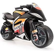 INJUSA - Moto Repsol a batería 6V XL para niños de 3 años con acelerador en