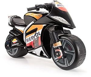 INJUSA Repsol Moto Wind XL Licenciada a Batería de 6V para Niños de 3 Años con Acelerador En Puño, Color Negro, 88.9 x 57.1 x 38.6 (6461)