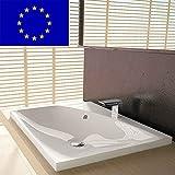 Einbau-Waschbecken 60x50x11,3cm eckig | 60cm Einbau-Waschtisch zum einlassen in eine Platte |...