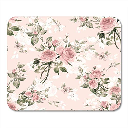 """Preisvergleich Produktbild HOTNING Gaming Mauspads,  Gaming Mouse Pad Colorful Watercolor Pattern Rose Buds and Leaves Y Pink 11.8""""x 9.8"""" Decor Office Nonslip Rubber Backing Mousepad Mouse Mat"""