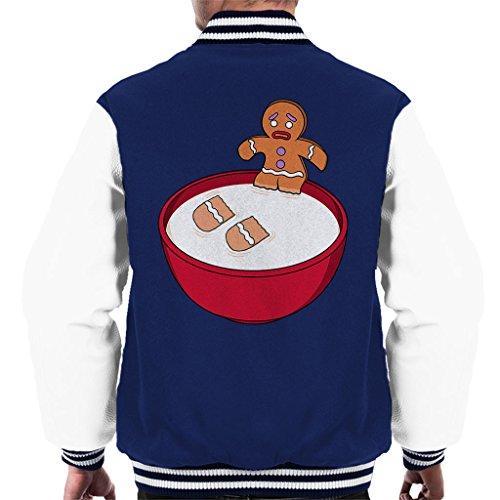 Shrek Gingerbread Man Milk Problems Men's Varsity Jacket Shrek Gingerbread