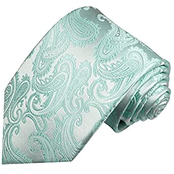 Cravate vert menthe motif cachemire 100% cravate en soie ( longueur 165cm )
