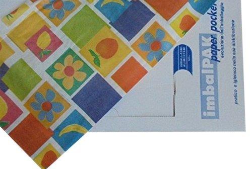 PZ 400 feuilles cm 30 x 40 Papier pour aliments en motifs variés Food Paper Leaves Pocket