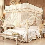 BeesClover Cibinlik Raumdeko, Bettzelt Mücken, für para Cama, Erwachsene, Baby, Süße Baldachin, Klamboe Moskitonetz, Version X, 1.2m (4 feet) Bed