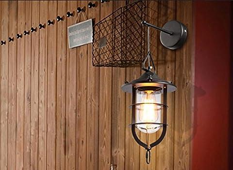 Industrie-Retro-Stil Retro-Wohnzimmer Wandlampe kreative Restaurant Bar Einzel-Kopf Kronleuchter