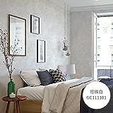 Reyqing Modernes, Minimalistisches Retro Farbstreifen Plain Non-Woven Kleidung Hotel Schlafzimmer Wohnzimmer Wand Tapeten, Gc 111101 Perlweiß, Wallpaper Nur