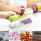 10 in 1 Verstellbarer Mandoline Gemüseschneider Kartoffelschneider, Zerteilen Gemüse Obst Schnell und gleichmäßig, Multischneider, Gemüsehobel, Gemüseschäler, Gemüsereibe und Julienneschneider in 1 von WEINAS -