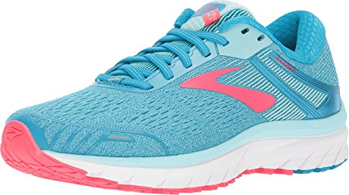 Brooks Women's Adrenaline GTS 18 Blue/Mint/Pink 12 B US Pink 12