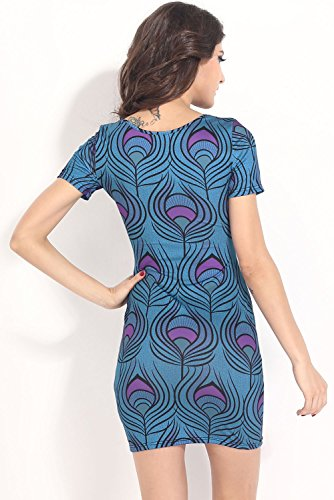 E-Girl femme Bleu SY21436 mini robe Bleu
