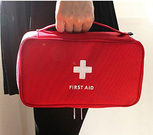 FOWALL Durable Poly Erste-Hilfe-Tasche EMPTY Notfall-Beutel-Paket Erste-Hilfe-Kit Beutel-Aufbewahrung Wesentliche Medizin für Auto, Haus, Schule, Reisen, Camping
