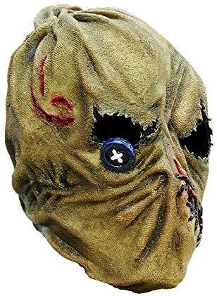 Vogelscheuche Maske des Grauens aus Latex - Erwachsenen Horror Kostüm Vollmaske - ideal für Halloween, Karneval, Motto- & (Halloween Illusion Kostüm)