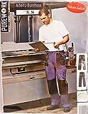 PUREWORK Herren Arbeits Bundhose Hose Arbeitshose Robuste Qualität Farbe: Blau/Schwarz Größe: XL (56)
