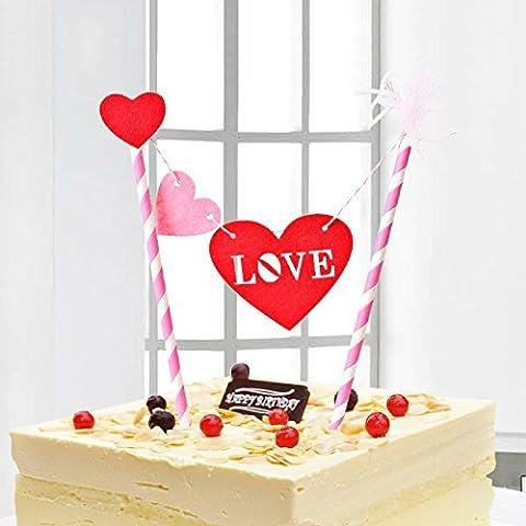 Mignon, joyeux, anniversaire, partie, décoration, gâteau, topper, Bunting, ensemble, enfants (a)