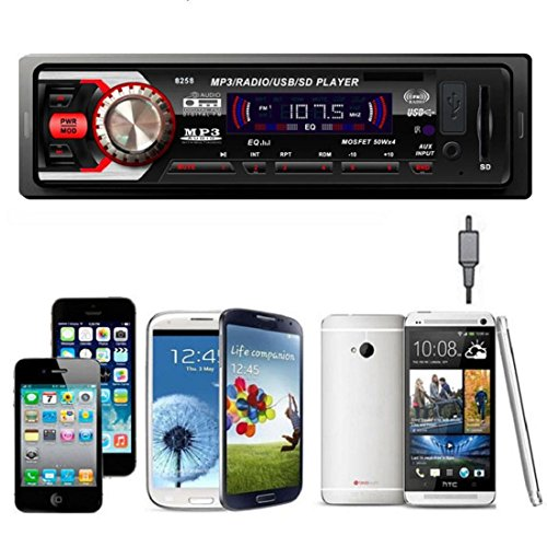 Tongshi En el tablero de coches de audio estéreo Bluetooth Unidad Cabeza de MP3 / USB / SD / AUX / FM de entrada AUX