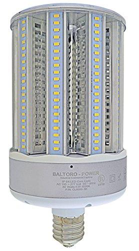 BALTORO cl6080-5K 80W LED Mais Glühbirne Ersetzt 400-600Watt MH, HID, HPS & CFL Bereich Beleuchtung, 5000K Cool Weiß (E39) Große Basis Mogul Schraube, 360° Flutlicht, UL und DLC aufgeführten -