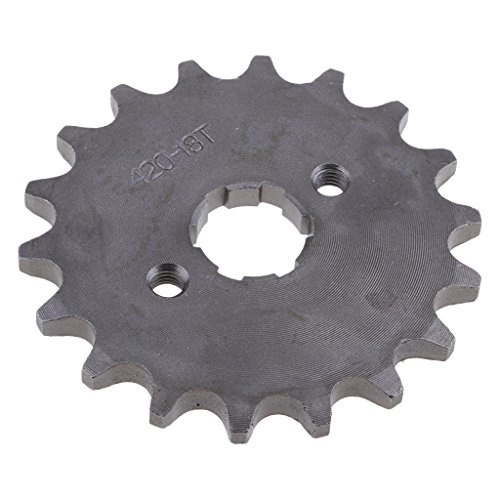 perfk 18T 420 Metall Kettenrad Hinterrad Kettenblätter für 110cc/ 125cc/ 140cc Dirt Bike, Φ 20mm, Rostfrei