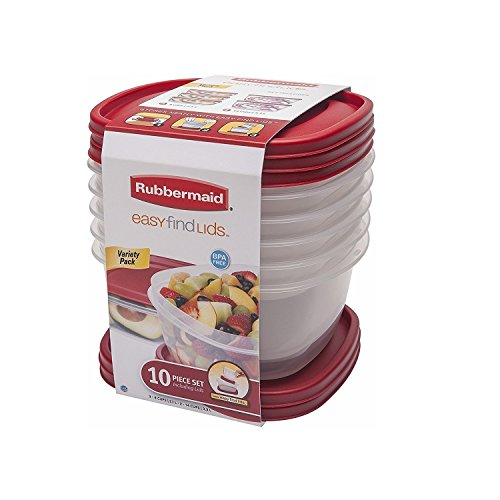 Rubbermaid 10-Piece Easy Find Lids Food Storage Containers by Rubbermaid
