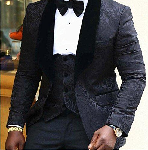 auguswu -  Giacca da smoking  - Uomo Black