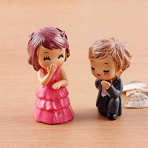 GEOPONICS 2ST / Set Hochzeit Paar-Geliebt-DIY-Fee Garten-Fertigkeit-Dekoration Miniatur Micro GNOME Terrarium Lands Geschenk als pic (Pic Micro)
