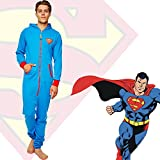 Superman Onesie DC Comics Jumpsuit Novelty Pyjamas All in One Set Official Merchandise
