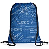 style3 X-Wing Cianotipo Bolsa mochila bolsos unisex gymsac fotocalco azul t-65