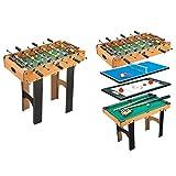 Homcom in Multi Spiel Tisch Kinder Indoor Aktivität mit Tisch Tennis Billard Fußball, Hockey