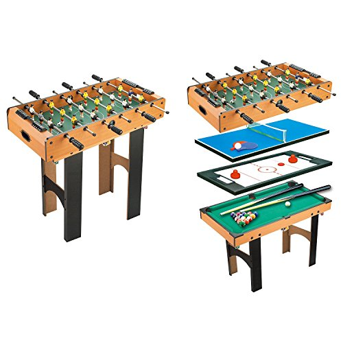 HOMCOM 4-In-1 Multi Game Table K...