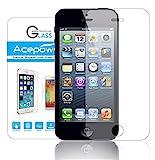 iPhone 5 5S Schutzfolie, ACEPower® iPhone 5 Gehärtetem Glas Panzerglas Schutzfolie Displayschutzfolie Displayschutz Screen Protector Retail-Verpackung für iPhone 5 5s und iPhone 5c