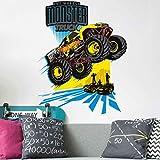 Bilderwelten Wandtattoo Hot Wheels Monster Truck, Sticker Wandtattoo Wandsticker Wandbild, Größe: 40cm x 30cm