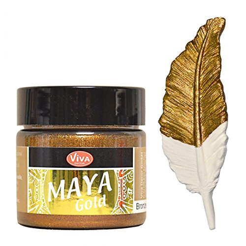 Viva Decor Maya Gold -Bronze- 45ml Metallglanz Farbe, Metallic Effekt -