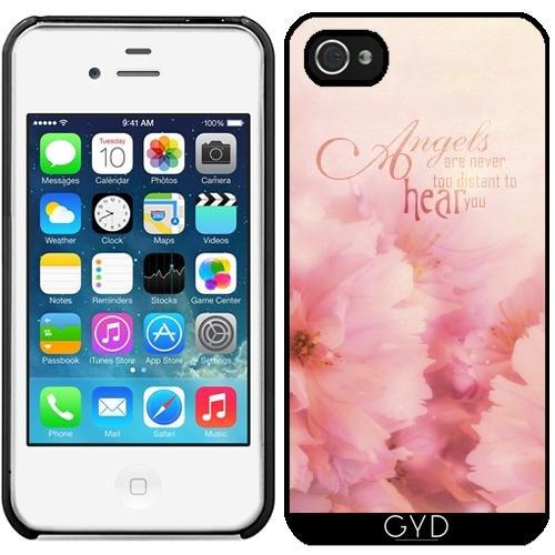 Leder Flip Case Tasche Hülle für Apple iPhone 6/6S - Rosa Kirschblüten Für Engel by Gatterwe Starre Kunststoff