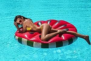 Luftmatratze Wassermelone 160cm Badeinsel Schwimminsel Schwimmliege Melone #3515