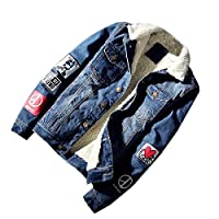 GAGA Men Classic Jeans Button Front Sherpa Lined Denim Trucker Jackets 5 S