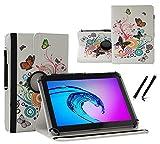 Tablet Tasche für Samsung Galaxy Tab Active 2 Schutz Hülle Etui Case + Touch Pen - 7 Zoll Schmetterling 360˚