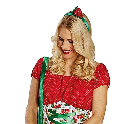 Kostüm Zubehör Haarreif Erdbeere Karneval Fasching Party (Erdbeer-zubehör)