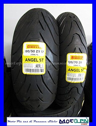 Paire Gommes Train Kawasaki Z1000 Z pirelli Angel ST 120/70 - 17 - 190/50 - 17