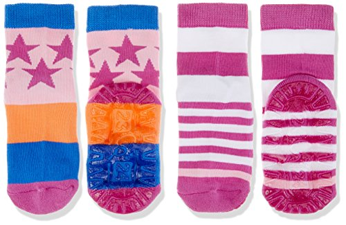 Sterntaler Mädchen Socken FLI AIR DP Sterne/Ringel, Violett (Hyazinth 644), 34