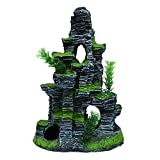 #1: Foodie Puppies Desolated Tower Aquarium Decor