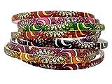 #7: Evogirl Hair Band Multicolored Mehndi Print Hair Band, Head Band, for Women/Girls (Pack of 12)