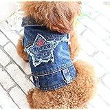 WYXIN Vestito a cinque stelle ricamato di cowboy e primavera estate e vestiti invernali Abbigliamento Teddy Dog , l