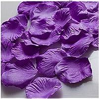 Magik - Pétalos de rosa de seda para decoración, varias opciones, 1000~5000 unidades, Morado claro, 1000