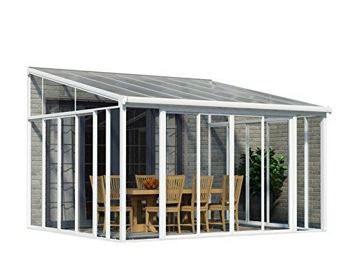 Palram Sanremo Veranda Wintergarten, weiß, 382 x 425 x 310 cm