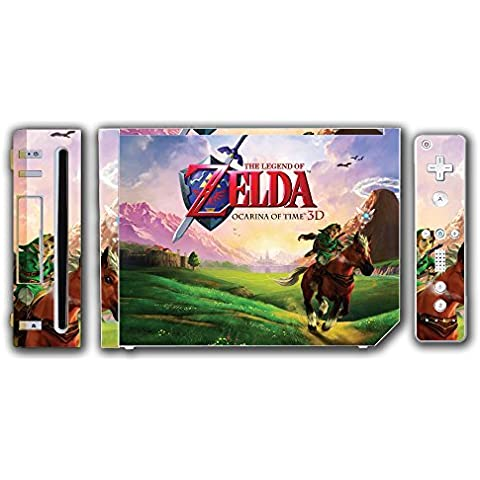 Legend of Zelda Link Ocarina 3D of Time Epona Navi Video Game Vinyl Decal Skin Sticker Cover for the Nintendo Wii System Console by Vinyl Skin