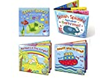 Brand New Baby Bath Books   First Words ABC Letters & Numbers   Plastic Coated & Padded   Floating Fun Educational Learning Toys for Toddlers & Kids Soft PVC Bath Books (Set of 4( All books))