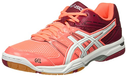 Sapatos Multicor Gel De foguetes Asics Cereja flash Voleibol 7 Branco Coral Cor dqXTzzEwxc