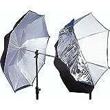 Interfit INT397 Parapluie 109 cm/7 mm Translucide/Noir/Argent