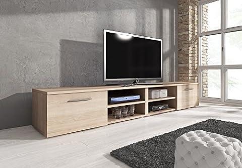 TV Unit Cabinet TV Stand Entertainment Lowboard Vegas (240cm, Sonoma Light Oak)