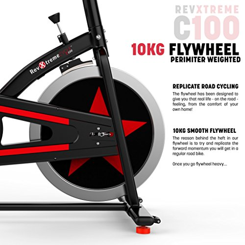 51aedH4vtwL. SS500  - We R Sports Exercise Bike/ Aerobic Indoor Training Cycle Fitness Cardio Workout Home Cycling Machine - 10KG Flywheel