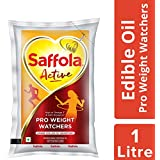 Saffola Active Edible Oil, Pouch, 1L